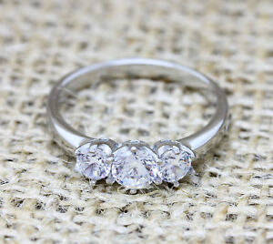 Vintage Trilogy Lab Diamond and Titanium Engagement Ring