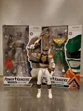 Power rangers lightning collection Green ZPutty White Ranger lot