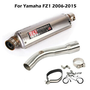 Slip for Yamaha FZ1 2006-2015 Exhaust Muffler Tips 440mm Mid Link Pipe System