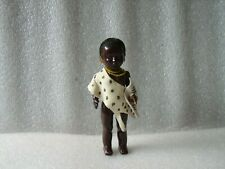VINTAGE PMI CELLULOID OR PLASTIC BLACK AFRICAN TRIBAL FOLK DOLL, SOUTH AFRICA