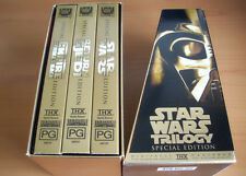 STAR WARS TRILOGY SPECIAL EDITION GOLD 3 VHS VIDEO SET