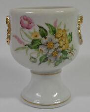 Bud Vase Trinket Dish Flowers Gold Accent