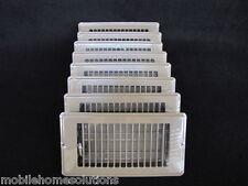 """Mobile Home RV Parts. Floor Register 4"""" x 8"""". Brown Metal Floor Vent.  Lot of 8"""