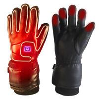 Motorbike Motorcycle Heated Gloves Winter Warm Battery Electric Waterproof
