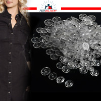 50/100pcs Set KAM SNAPS T3 T5 Size Clear Plastic Buttons for DIY Crafts Dresses