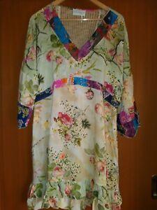 Elisa Cavaletti Floral Ruffle Hem Dress. XXL.