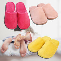 New Women Men Cotton Plush Slippers Flat Shoes Home Indoor Soft Warm Casual 5-12