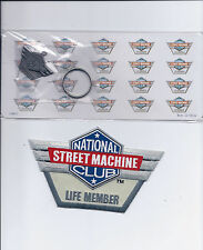 Collectible Pewter Key Chain & Life Member Patch National Street Machine Club