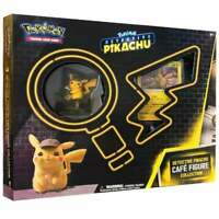 Pokemon Detective Pikachu Cafe Figure Collection Box | Inc Booster Packs + Promo