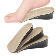 2Pcs Unisex Insole Heel Lift Insert Shoe Cushion Elevator Taller Height Increase
