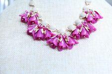 I.N.C International Concept Resin Rose Flower Buds Gold Tone Necklace