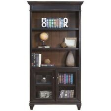Beaumont Lane Library Bookcase in 2 Tone Distressed Black