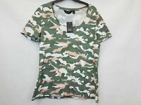 Dorothy Perkins Ladies t-shirt camouflage style green mix organic cotton size 12