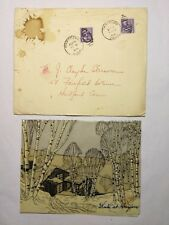 Rare 1946 Beatrice Fox Auerbach Christmas Card 140 Prospect Ave Hartford, CT