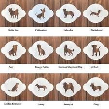 12 pieces Dog party wedding Stencil Reusable DIY Craft coffee Stencils Template