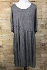 ASOS Curves Women's Shirt Dress Tunic Plus Heather Gray Babydoll Basic SZ 14