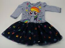 4T Childrens Kids Girls Cute My Little Pony Rainbow Dash Tutu Skirt Dress Gown