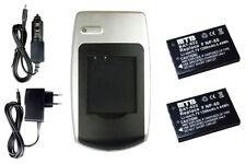 2 Akkus + Ladegerät KLIC-5000 KLIC5000 für Kodak EasyShare DX6490 DX7440 DX7590