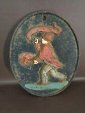 New listing Vintage Cast Iron Fireman Oval Wall Plaque