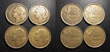 IVème République - lot de x4 50 francs Guiraud types différents