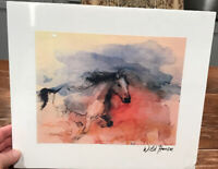 Wild Horse Print on Canvas - 12X14 Total Size Signed by Artist On Back