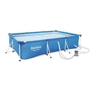 Bestway Steel Pro 9.8ft x 6.6ft x 26in Above Ground Swimming Pool Set with Pump