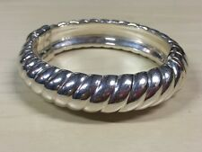 QVC Fashion Jewelry- Sterling Silver Hinged Bangle- Made in Italy- Size: Average