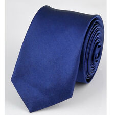 Wedding Skinny Slim Tie Solid Color Plain Silk Men's Jacquard Woven Necktie