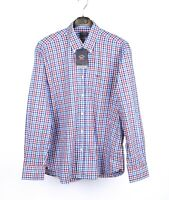 Paul & Shark Yachting Collection Multicolored Men Checked Shirt Size 43 XL, NEW