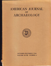 2 LOT VINTAGE AMERICAN JOURNAL OF ARCHAEOLOGY QUARTERLY 1944 1949