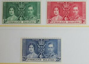 Falkland Islands - 1937 – Coronation Set – Mint (R2-E)