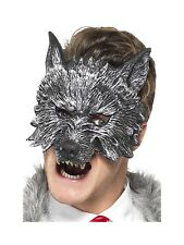 Big Bad Wolf Face Mask Adult Mens Womens Halloween Fancy Dress