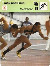 1977 Sportscaster Card Track and Field The 9.9 Club # 07-03 NRMINT.