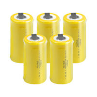 1.2V Sub C 2200mAh NiCD Rechargeable Battery High drain with Tabs Flat Top 5pcs
