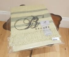 Lovely LTD Edition Bronte By Moon Lambswool & Angora Throw - Beautiful Quality!
