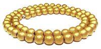 😏 Hämatit Perlen matt gold 6 mm Kugeln Strang goldfarben für Kette hematite 😉