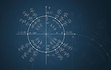 Lámina-Matemáticas ecuación de la Tierra con relación al Sol (imagen física)