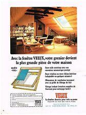 PUBLICITE  1973   VELUX  fenetre de toit pour votre grenier