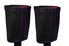 PURPLE Stitch accoppiamenti FIAT 500 & 500 ABARTH 07 + 2x ANTERIORE CINTURA DI SICUREZZA copre