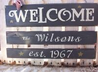 Personalized  Custom  wood home sign primitive