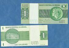 BRASILE 1 CRUZEIROS FIOR DI STAMPA UNC BELLA BANKNOTE