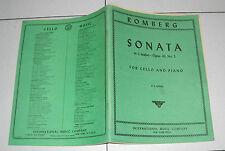 Spartiti ROMBERG SONATA in C major Opus 43 No. 2 CELLO PIANO Violoncello Jansen