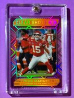 Patrick Mahomes ORANGE ACETATE CLEAR SHOTS REFRACTOR HOT 2020 PANINI ILLUSIONS
