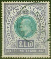 Natal 1902 £1.10s Green & violet SG143 Fine Used