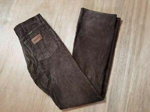 Vintage Wrangler Dark Chocolate Brown Men's W27L34 Corduroy Pants Jeans Trouser