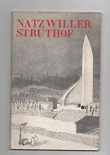 Natzwiller Struthof. 1955. Comité pour l'érection d'un mémorial au Struthof.