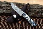 MH KNIVES CUSTOM HANDMADE DAMASCUS STEEL FULL TANG HUNTING/SKINNER KNIFE MH-376