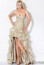 JOVANI GOLD HIGH LOW PICKUP PROM DRESS 172069 Size 4