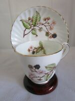 Vintage ADDERLEY Cup & Saucer Bone China Bramble Pattern Berry H545 England