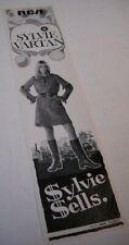 Sylvie Vartan rare original 1968 promo trade advert Sylvie Sells mint condition